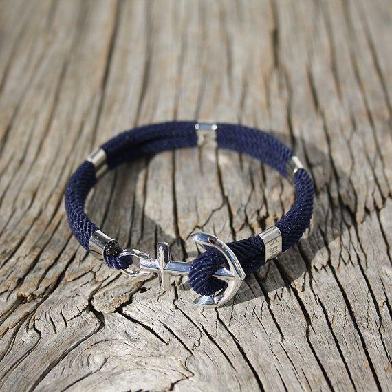 Ancre en acier bracelet  bracelet nautique  New par byMarisSal