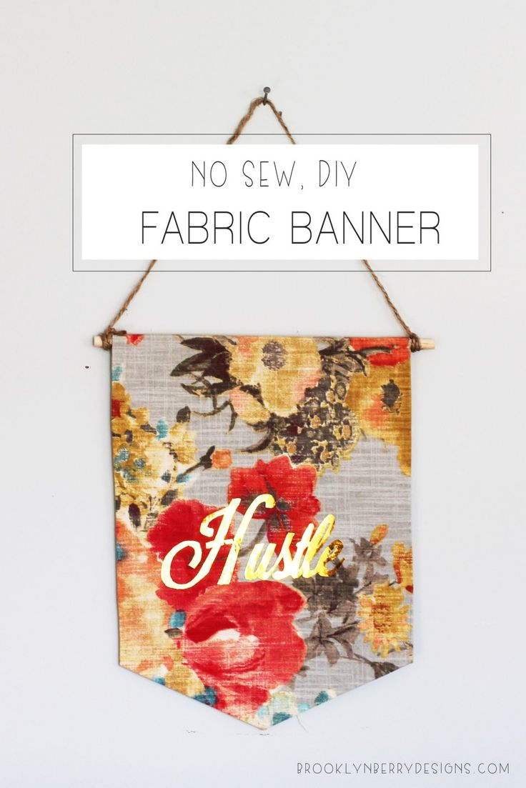 No Sew Fabric Banner - Brooklyn Berry Designs