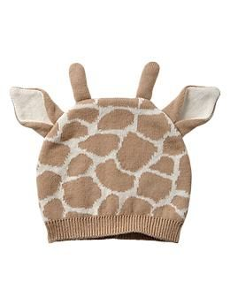 Giraffe hat - perfect for a safari themed nursery #baby