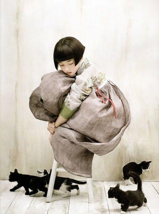 Korean Vogue does Han Bok #Korea, #dress by carole