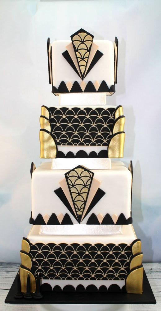 263 Best The 1920s Art Deco Style Cakes Images On Pinterest Art