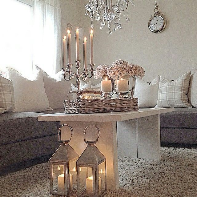 Scandinavian design for a comfortable family room. Love the candlelight, but not for families. Get the same look with Mirage moving flame LED candles.