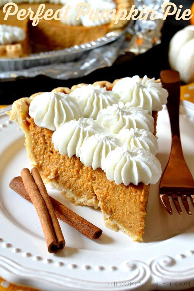 Perfect Pumpkin Pie Recipe Perfect Pumpkin Pie Pumpkin