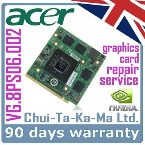 VG.8PS06.002 Acer Aspire 5520G 5720G Laptop Graphics Card Repair Service - £34.95