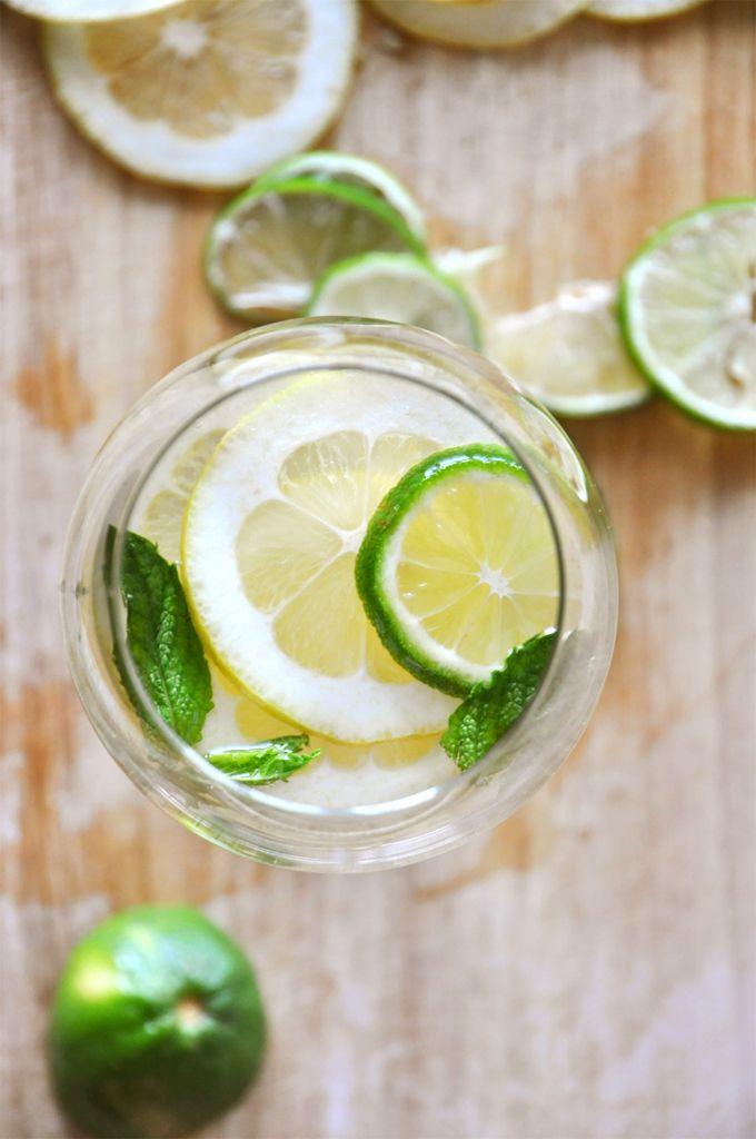 Lemon Lime and Mint Sangria by Minimalist Baker    http://minimalistbaker.com/mint-and-citrus-white-wine-sangria/#