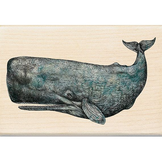 Pottwal Stempel Holzschnitt-Handwerk-Briefmarke von myrubberstamp