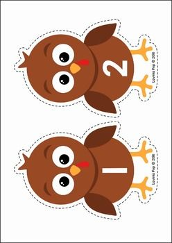 Thanksgiving Turkey Numbers Center Activity & Worksheet FREE
