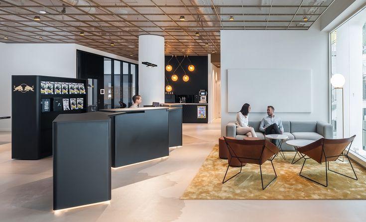 Red Bull Head Office, Stockholm  #vorwerk #carpet #floor #design #rug #office #interiors #architecture #commercial #officespace #reception
