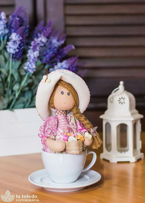Cup doll.... (the best part is waking up with this cute doll in your cup!)...