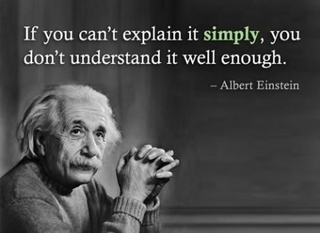 """I do believe this is true.  """"If you can't explain it simply, you don't understand it well enough."""" - Albert Einstein"""