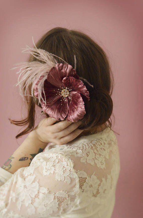 Pink Wedding Fascinator Floral Hairpiece