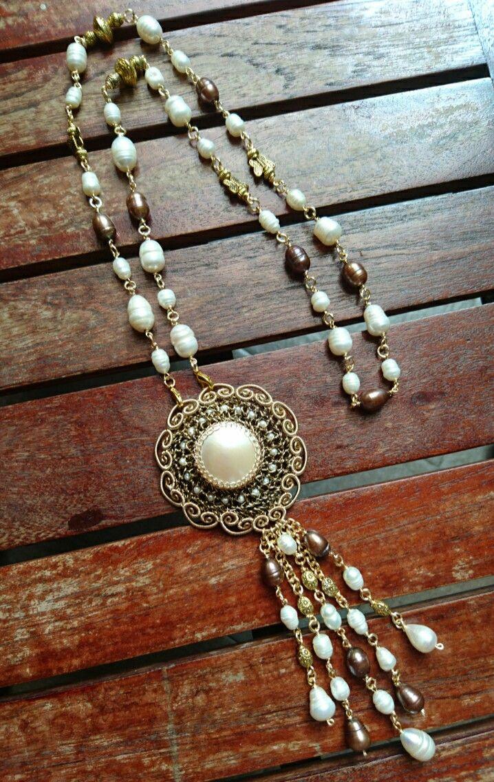 #Necklace #wire #crochet #DesigbbyAdis #handmade #madeinindonesia