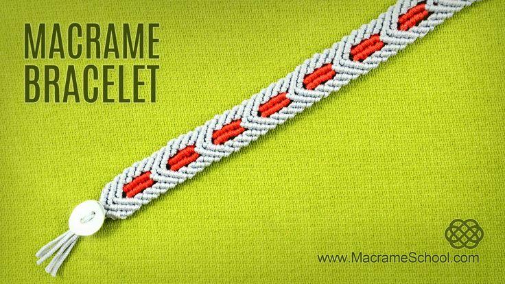 Macrame Star Wars Bracelet TUTORIAL - Chevron Pattern.