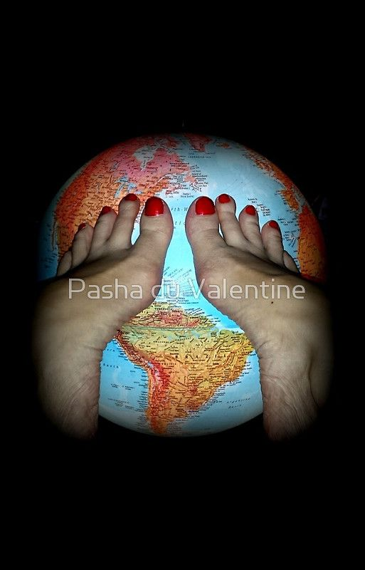 The World at Her Feet 2 Collectors Postcard by Pasha du Valentine
