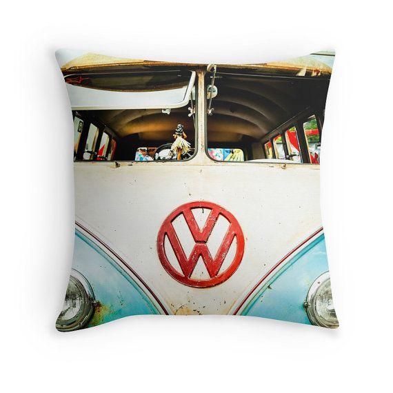 VW Bus Throw Pillow Cover Only Vintage VW Bus Vw Van