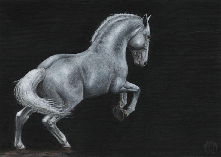 Marble Stallion by MargotShareaza.deviantart.com on @DeviantArt