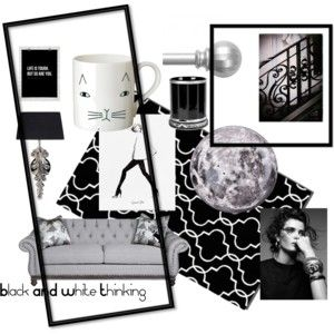 """Black AND White Thinking"" by mandyjanem on Polyvore"