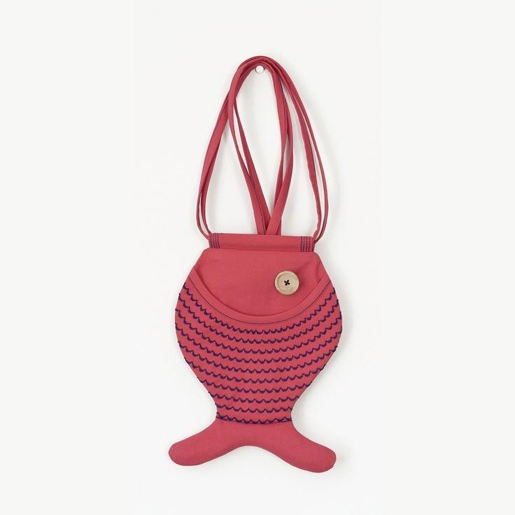 Fish Bag, Hot Pink, Hipster Bag, Summer Bag, For Festivals, Beach Accessories, Bright Colors, Fun, Kawaii, Cute Bag. $33.00, via Etsy.