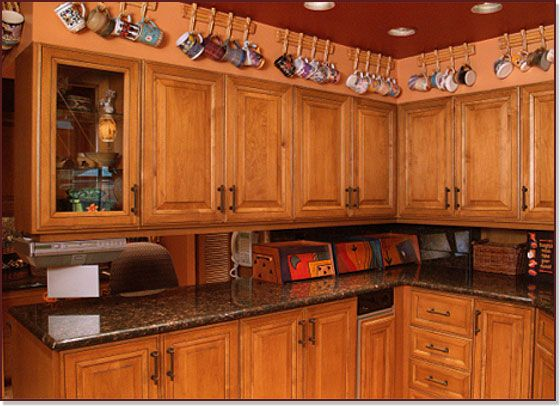 Stunning Wooden Cabinets From Kitchen Saver!