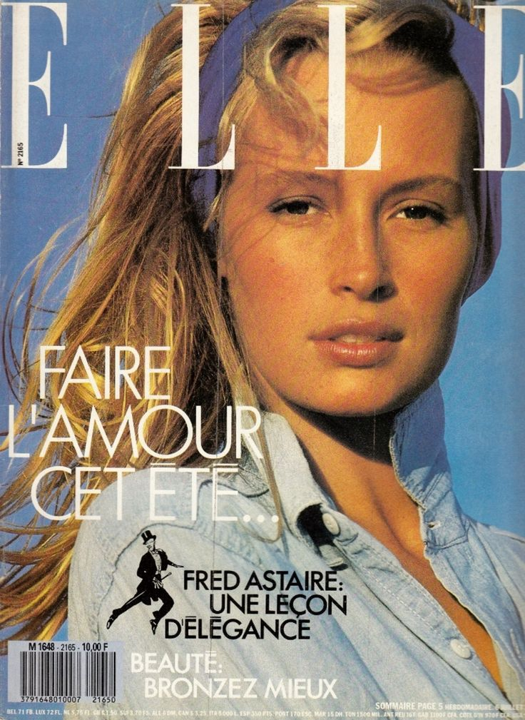 Elle France July 1987, model: Estelle Lefébure | Stylist Anne: Severine Liotard | photographer: Marc Hispard