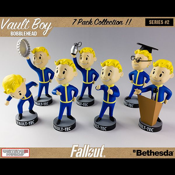 Fallout: Vault Boy Bobblehead 7 Pack Series 2!  Available now at secretcompassonline.com