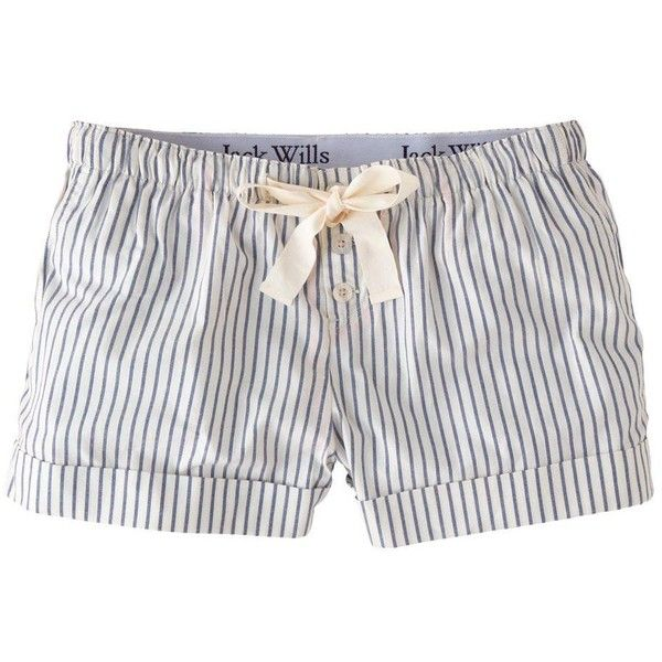 Jack Wills Bempton Loungeshort (32 CAD) ❤ liked on Polyvore featuring intimates, sleepwear, pajamas, shorts, bottoms, blu stripe, striped pjs, cotton pjs, cotton sleepwear and cotton pajamas