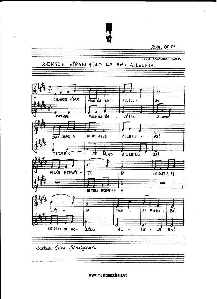 Zengje vígan föld és ég      cseh karácsonyi ének feldolgozás