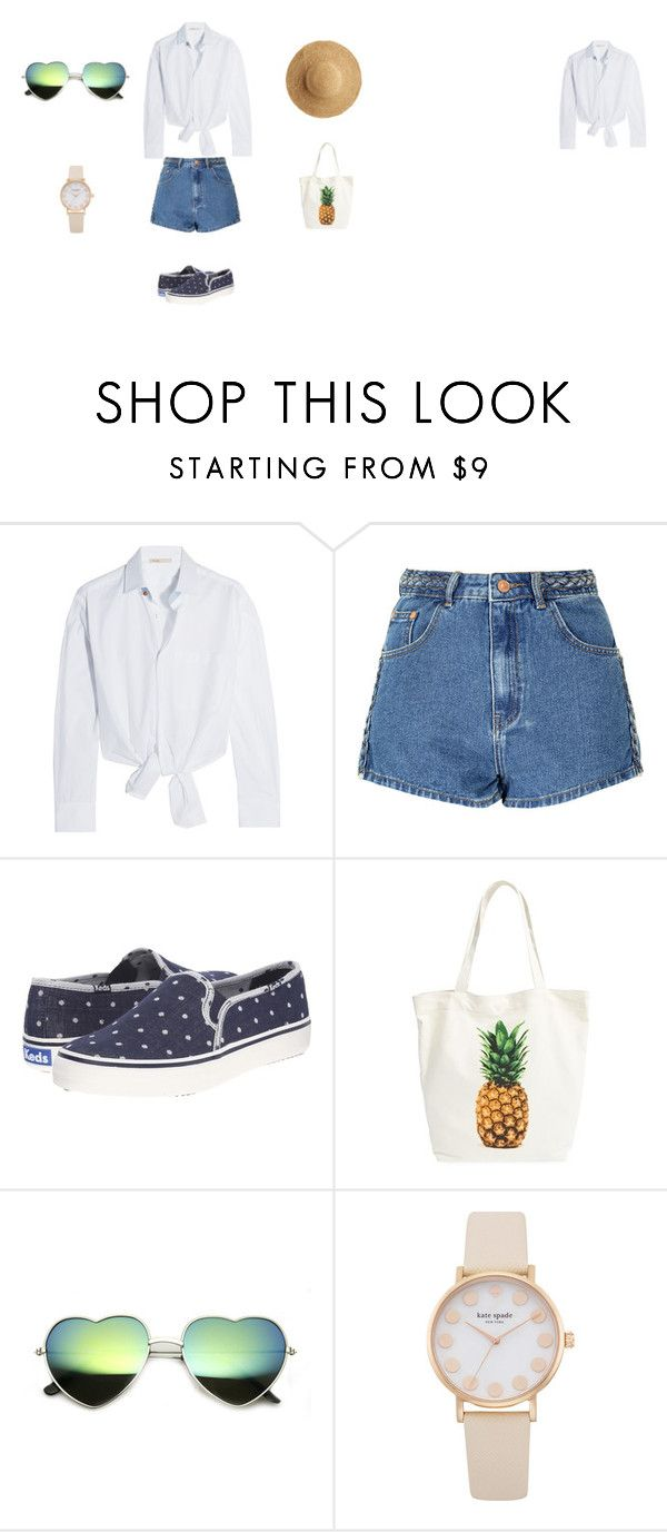 """summer outfit"" by pati48124 on Polyvore featuring moda, Maje, Glamorous, Keds, BP. i Flora Bella"