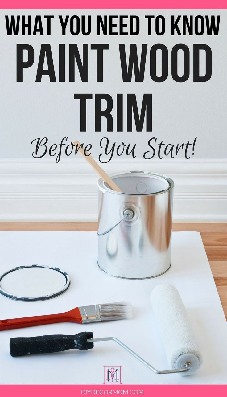 how to paint over wood trim