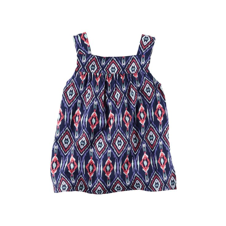 Baby Girl Carter's Print Tank Top, Size: 6 Months, Ovrfl Oth