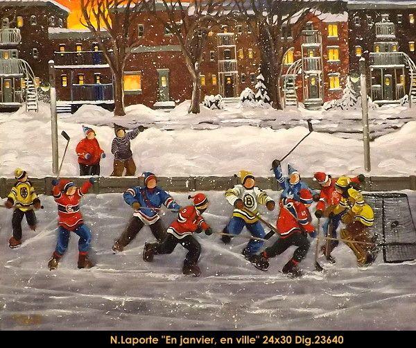 #nicolelaporte #art #artist #canadianartist #quebecartist #hockey #habs #bruins #mapleleafs #winterscene #originalpainting #oilpainting #galerieiris #multiartltee
