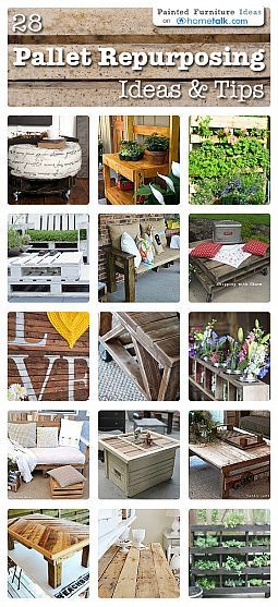 Great pallet ideas, love the dining table at the bottom!