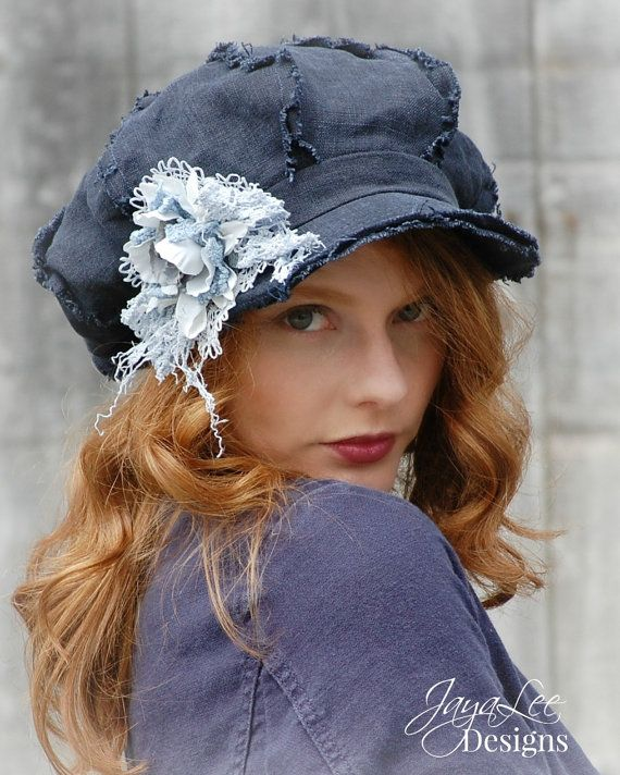 Oversized Newsboy Hat by Jaya Lee  Boho Hippie Hat Clothing