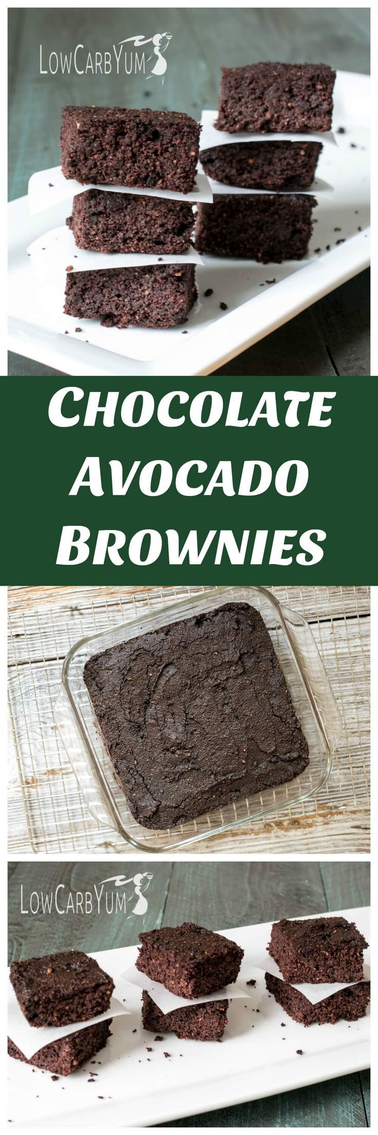 Not a fan of avocados? You'd never know they were in these low carb gluten free chocolate avocado brownies! Why not give them a try and see. | http://LowCarbYum.com