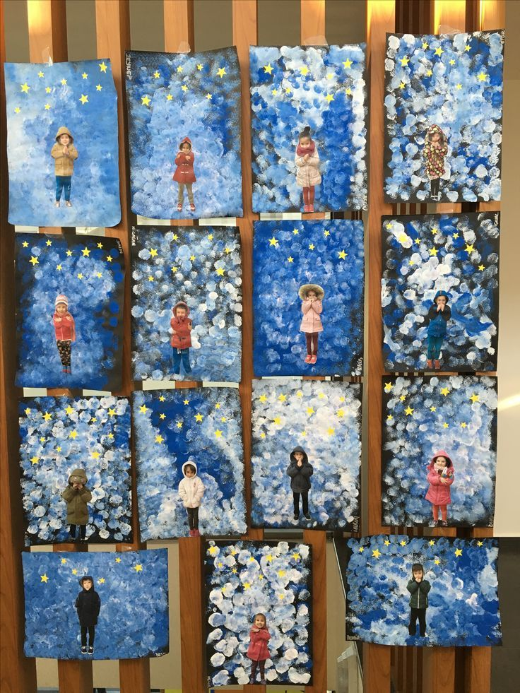 Really like this winter artwork for kids. Link isn't for this picture.