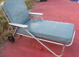 Vintage Metal Chairs And Retro Patio Tables   Vintage Gliders