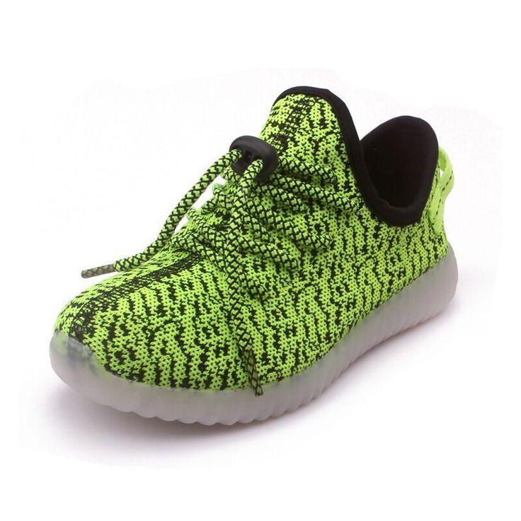 5 Color Fashion children led lights shoes boys girls USB charging grid fabric breathable kids sneakers tenis infantil menina