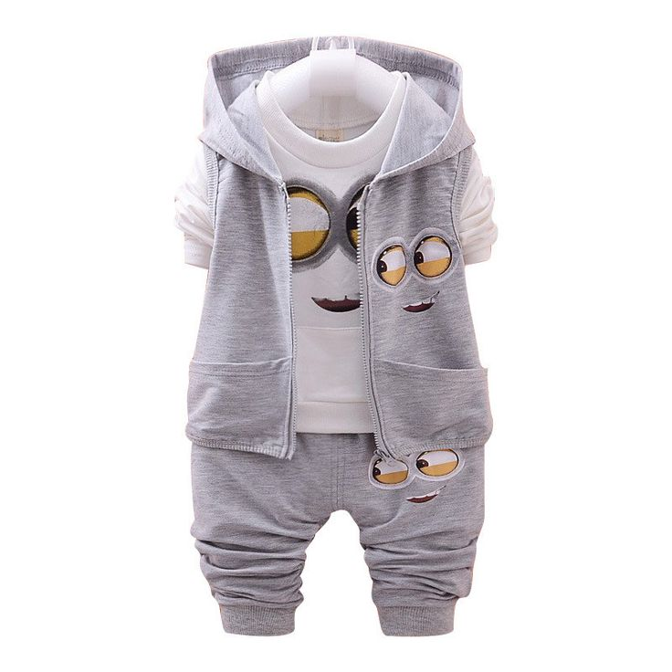 Minions Inspired 3PC Infant/Toddler Sport Suit