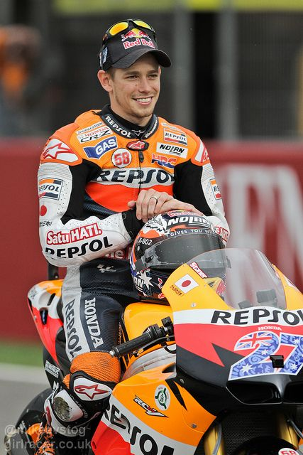 CASEY STONER (born 16 October 1985) in Southport, Queensland, Australia) is a retired Australian professional motorcycle racer, and a two-time MotoGP World Champion, in 2007 and 2011. Stoner raced from a young age and moved to the United Kingdom to pursue a racing career.