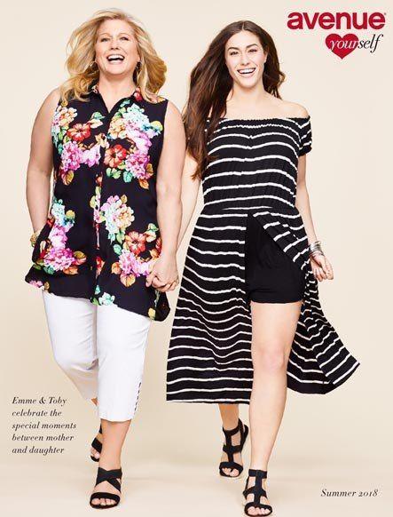 a2f460f3b4ee Avenue - американский lookbook женской одежды больших размеров лето 2018   plussize