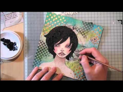 PaperbabeStamps: 12 Mixed Media Works of 2016 ~ February ~ Layers of Tissue ~ part 2