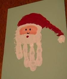 A cute Santa handprint Christmas card idea. - R. DeCaire