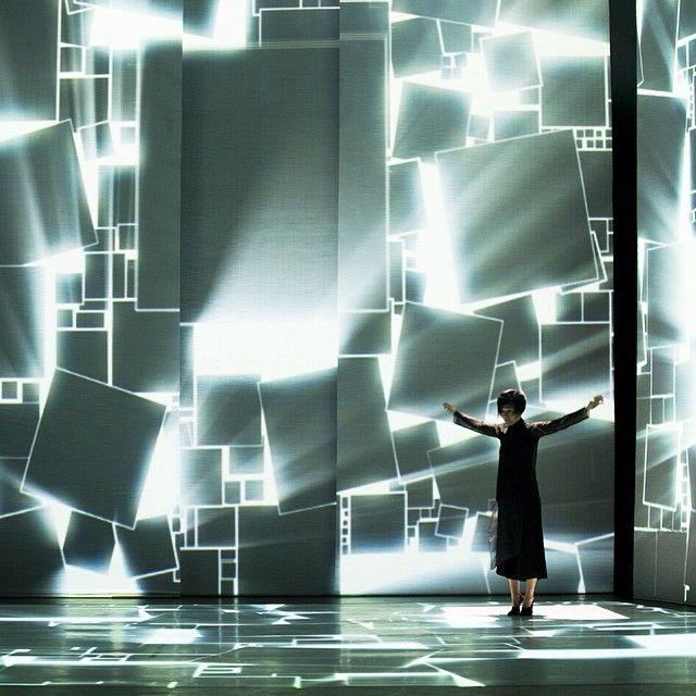 madame freedom. backlit set.