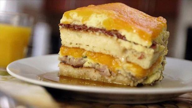 Pancake lasagna is Eric Greenspan's ultimate crowd-pleaser of a breakfast.