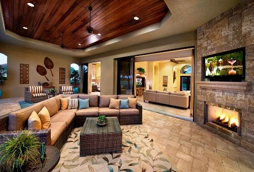 The Living Room Area that Blends with Outdoor