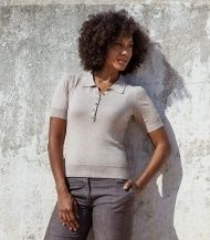 Cotton and Silk Ladies Polo Shirt