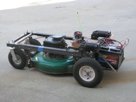 What this is: This instructable will show you how to make your Arduino into an R/C interface that you can use for just about anything requiring remote control. Iwill also show you how Ibuilt an R/C lawnmower using my Arduino, a cheap R/C transmitter and receiver pair, and a couple of electric-wheelchair motors from Ebay. Ihave used this interface to control anything from basic LED's to Bipolar stepper motors, mini-robots, lifeless R/C cars from the thrift store, and ev...