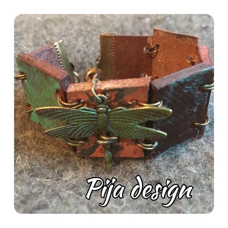 Leather bracelet Vintage Pijadesign