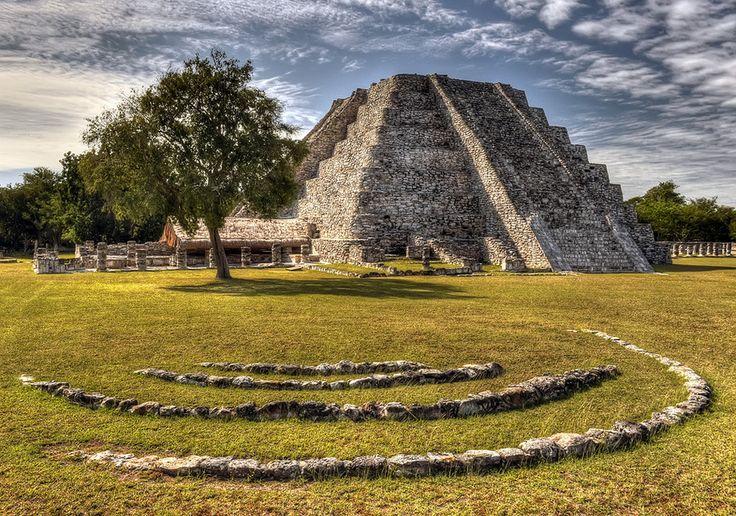 Ruins of the mayan city of Mayapan, in Yucatan Peninsula, Mexico