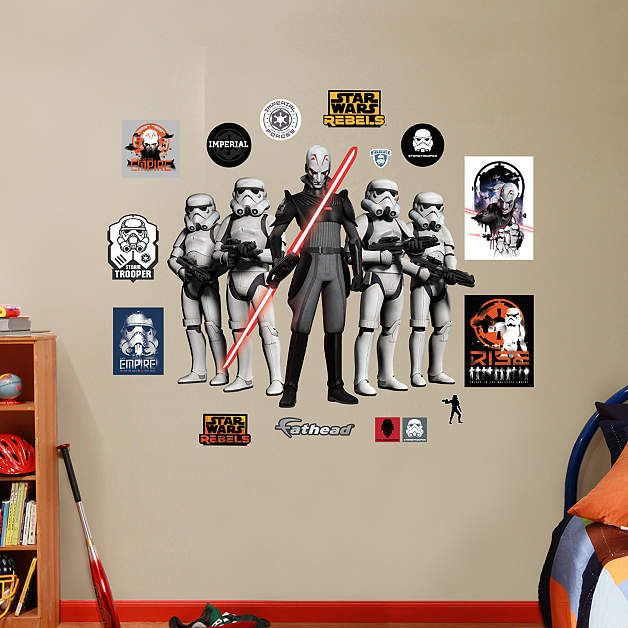 Fathead Star Wars The Inquisitor And Stormtroopers   Wall Sticker Outlet